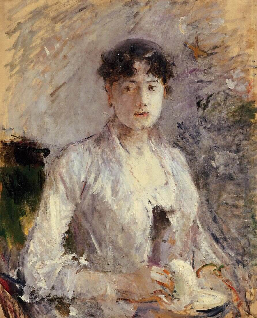 """""""Young Woman in Mauve"""" by Berthe Morisot"""